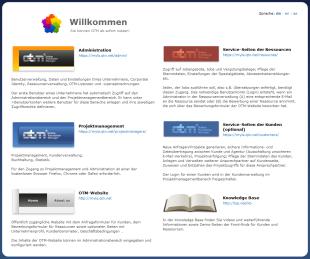 Página de inicio de OTM